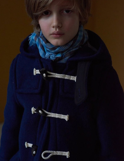 [CARAMEL] SWIFT DUFFLE COAT _  NAVY [6y, 8y, 10y]