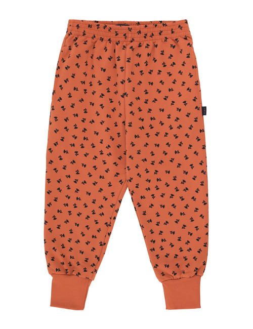 "[TINY COTTONS]  ""TINY FLOWERS"" SWEATPANT _ sienna/navy [6Y, 8Y]"