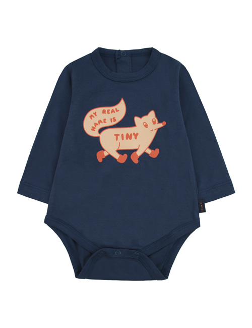 "[TINY COTTONS]  ""TINY FOX"" BODY _ light navy/cappuccino[9M, 12M]"