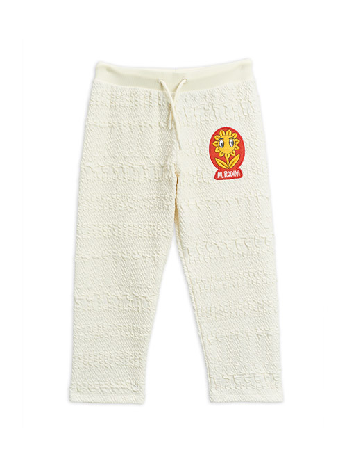 [MINI RODINI]Flower patch sweatpants _ Offwhite[104/110, 116/122, 128/134]