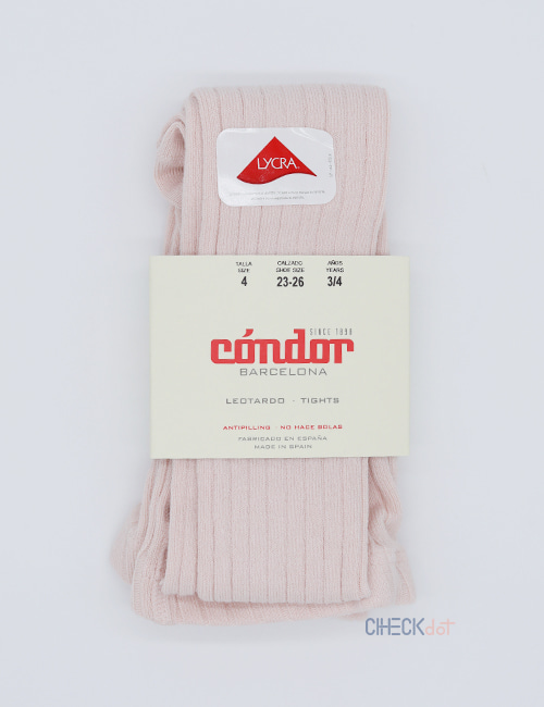 [CONDOR] BASIC RIB TIGHTS _ NUDE (674) [2Y, 4Y, 6Y]