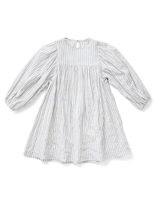 [SOOR PLOOM]Clementine Dress, Ticking Stripe [8Y]