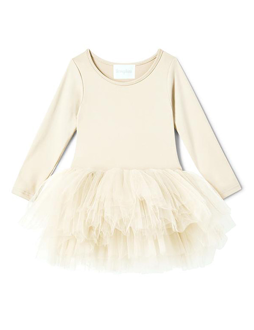 [I Love Plum]  B.F.F. Tutu Dress _ Pearl Ivory[4Y, 6Y, 8Y]