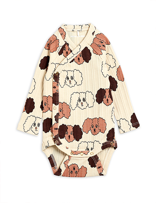 [MINI RODINI] Fluffy dog aop wrap body _ Beige [62]