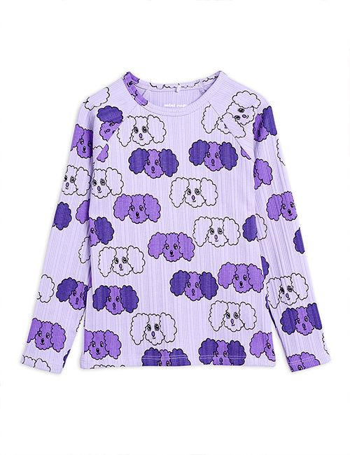 [MINI RODINI] Fluffy dog aop ls tee _ Purple [80/86, 92/98, 104/110, 116/122]