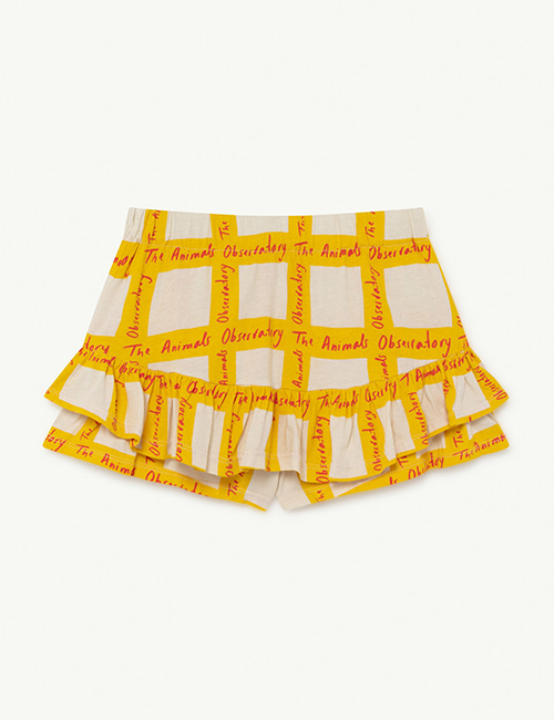 [T.A.O]  KIWI KIDS SKIRT _ White Squares