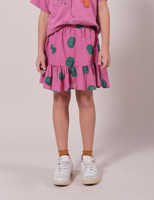 [BOBO CHOSES]  Tomatoes All Over Ruffle Mini Skirt [4-5Y]