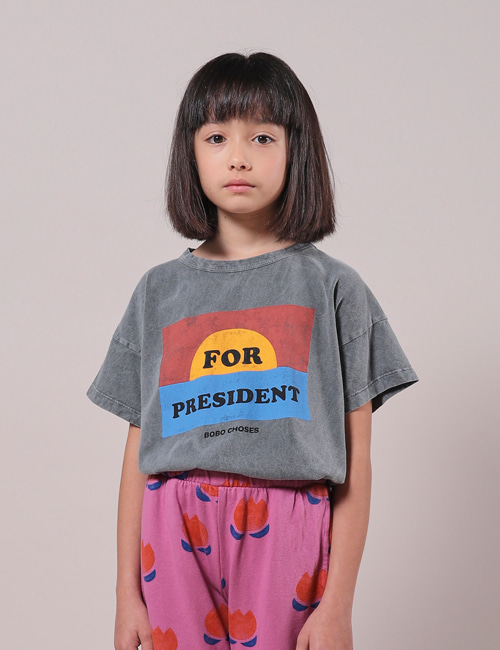 [BOBO CHOSES] For President Short Sleeve T-Shirt
