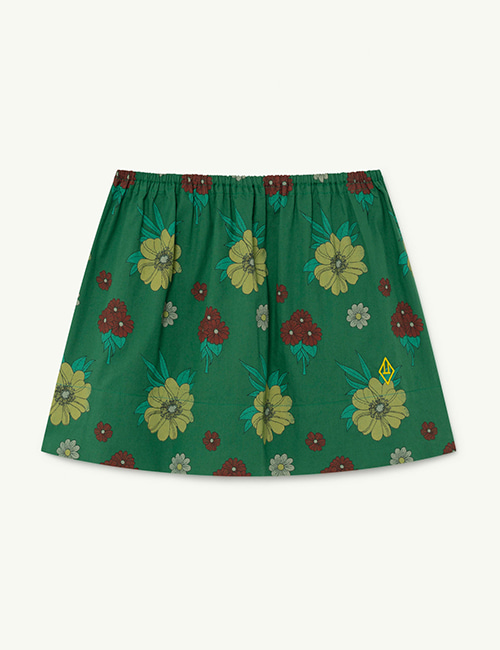 [T.A.O]  IMPALA KIDS SKIRT _ Green Flowers