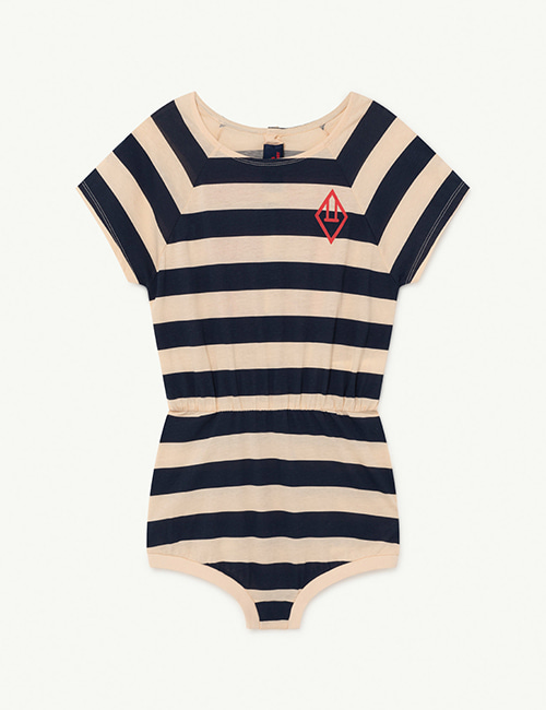 [T.A.O]  RABBIT KIDS BODY _ Peachy Stripes