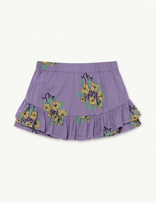 [T.A.O]  KIWI KIDS SKIRT _ Purple Flowers