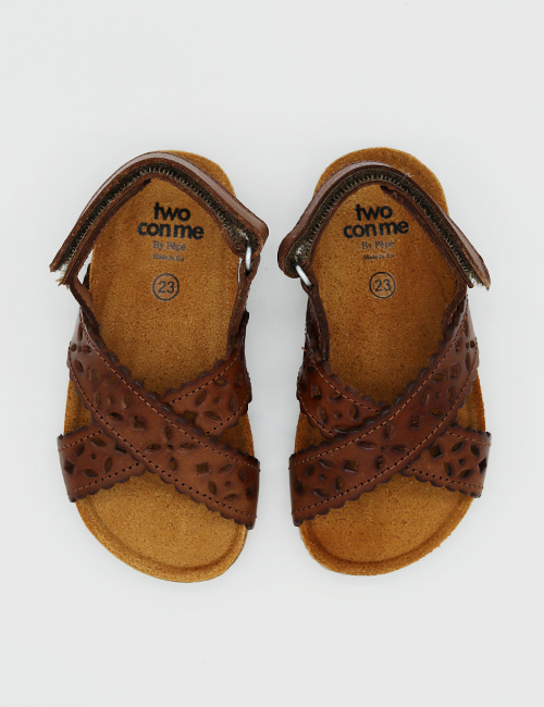 [PEPESHOES] TWO CON ME BK12 CUOIO [22,23,26,32,33]