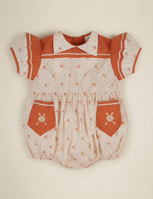 [APOLINA] NELLIE Romper _ RED CALICO FLORAL[2-3Y]