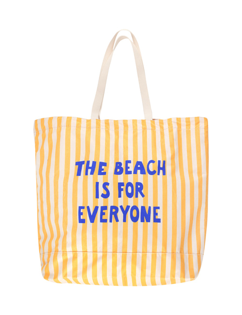 [TINY COTTONS]  THE BEACH IS FOR EVERYONE TOTE BAG _ yellow/light cream