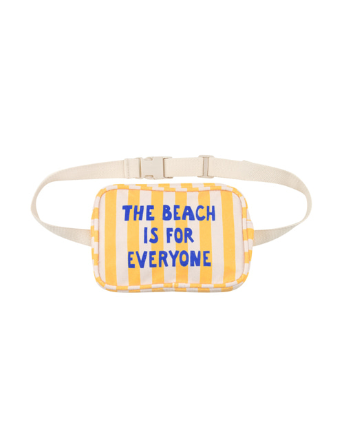 [TINY COTTONS]  THE BEACH IS FOR EVERYONE FANNY BAG _ yellow/light cream