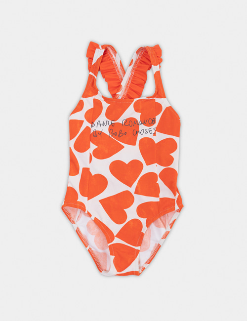 [BOBO CHOSES] All Over Hearts Swimsuit [6-7y]