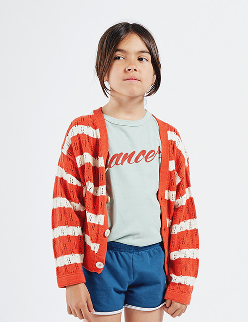 [BOBO CHOSES] Striped Knitted Cardigan [4-5y]