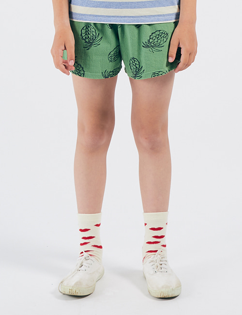 [BOBO CHOSES] All Over Pineapple Jersey Shorts [8-9y]