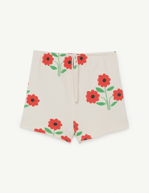 [T.A.O]HEDGEHOG KIDS SHORTS _  WHITE FLOWERS [2Y]