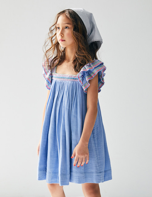 [NELLY STELLA]  Chloe Dress _ Iris[3Y]