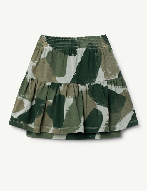 [T.A.O] SLUG KIDS SKIRT GREEN CAMOUFLAGE  [3y]