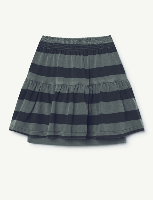 [T.A.O] SLUG KIDS SKIRT GREY GREEN STRIPES  [3y]