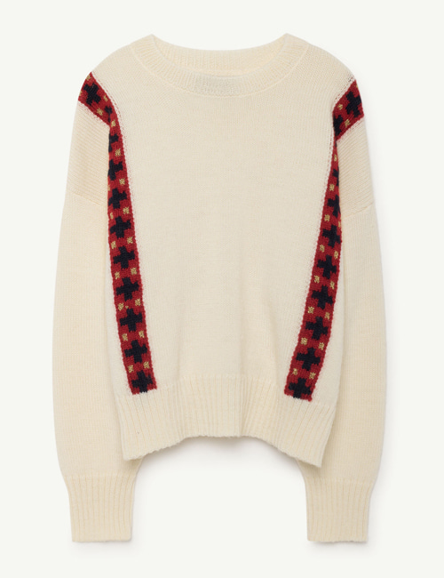 [T.A.O] BANDS BULL KIDS SWEATER RAW WHITE  [4y]