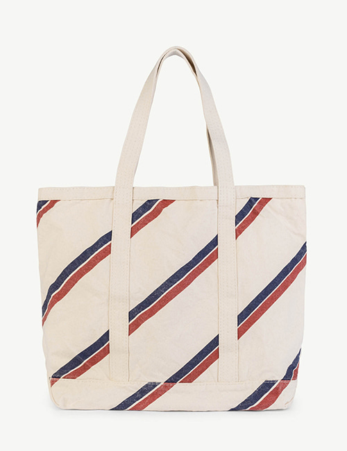 [T.A.O]STRAPS TOTE ONESIZE BAG RAW WHITE STRIPES