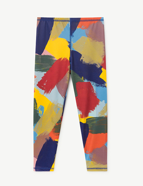 [T.A.O]SEAQUAL ALLIGATOR KIDS LEGGINS MULTICOLOR BRUSHES [4Y]