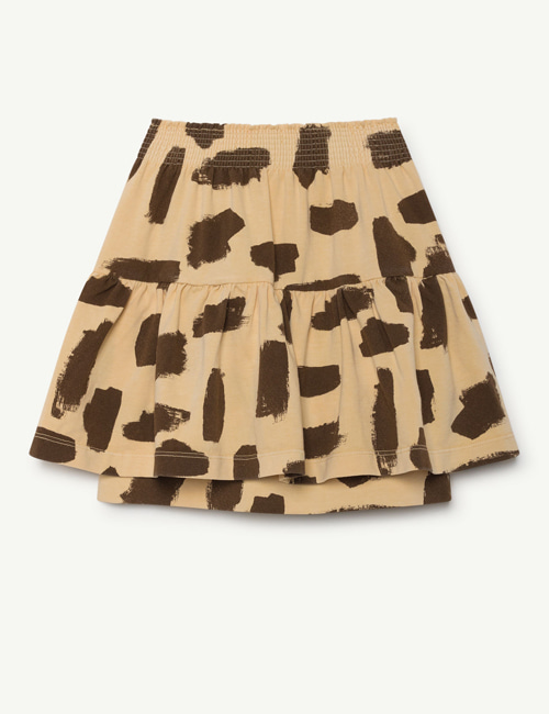 [T.A.O] SLUG KIDS SKIRT YELLOW LEOPARD  [2y]