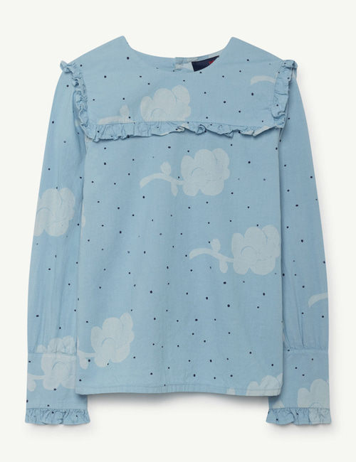 [T.A.O] GADFLY KIDS SHIRT BLUE FLOWERS  [6y]