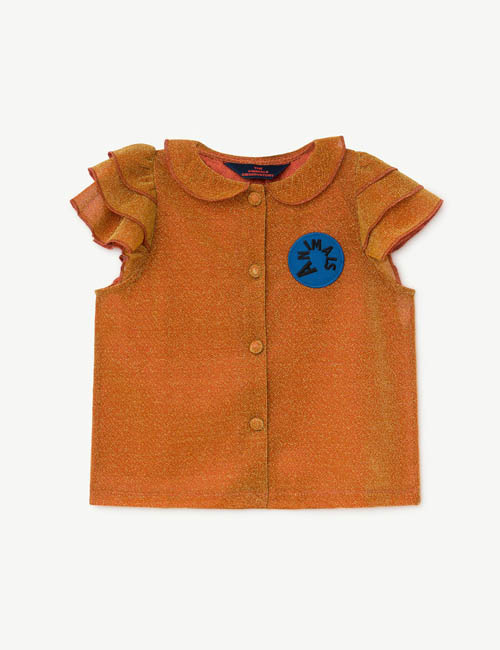 [T.A.O] PARAKEET KIDS SHIRT _ ORANGE[ 8Y]