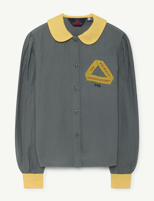 [T.A.O] KANGAROO KIDS SHIRT GREY TRIANGLE  [3y, 4y]