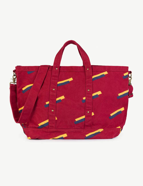 [T.A.O]BIG CANVAS BAG RED APPLE 80'S