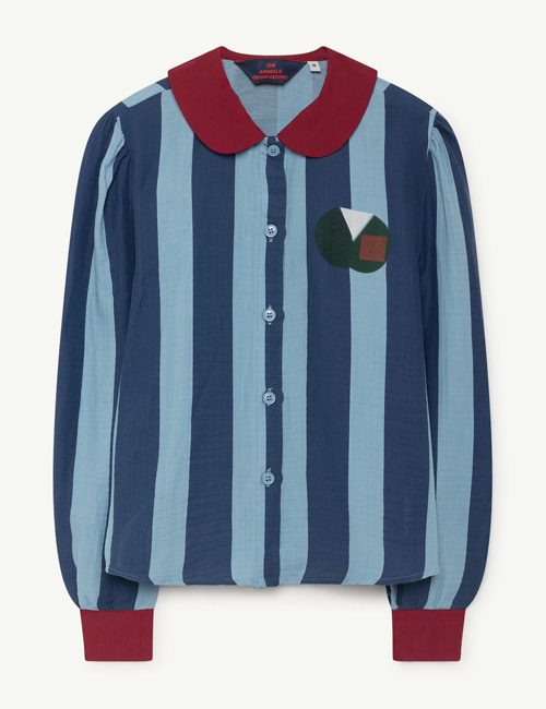 [T.A.O] KANGAROO KIDS SHIRT BLUE BLUE STRIPES  [6y]