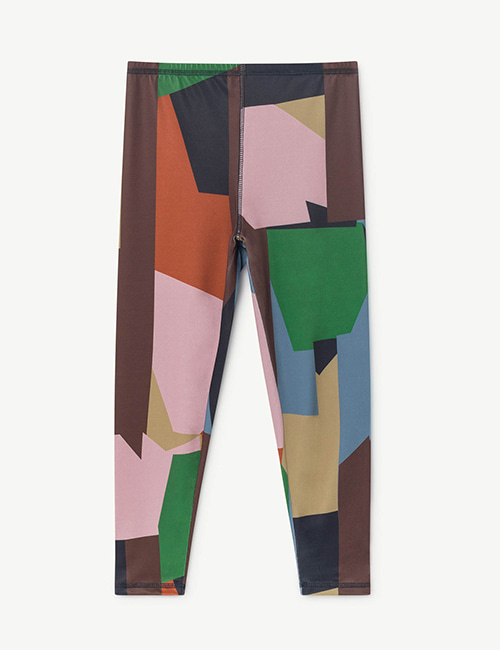 [T.A.O]SEAQUAL ALLIGATOR KIDS LEGGINS MULTICOLOR GEOMETRIC [4Y,6Y]