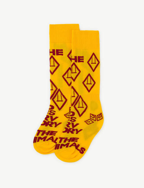 [T.A.O] HEN KIDS SOCKS _ YELLOW[ 31/34, 35/38]