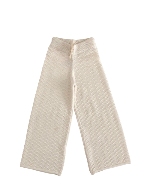 [LIILU] Knit pants _ Milk
