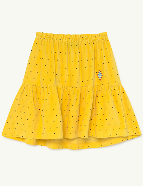 [T.A.O] BIRD KIDS SKIRT  YELLOW DOTS [6Y, 8Y, 10Y, 12Y]