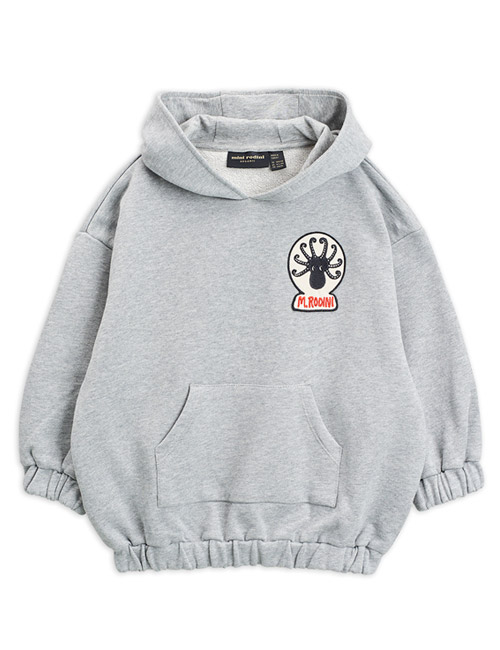 [MINIRODINI]Octopus patch hoodie Grey[80/86, 92/98, 128/134]