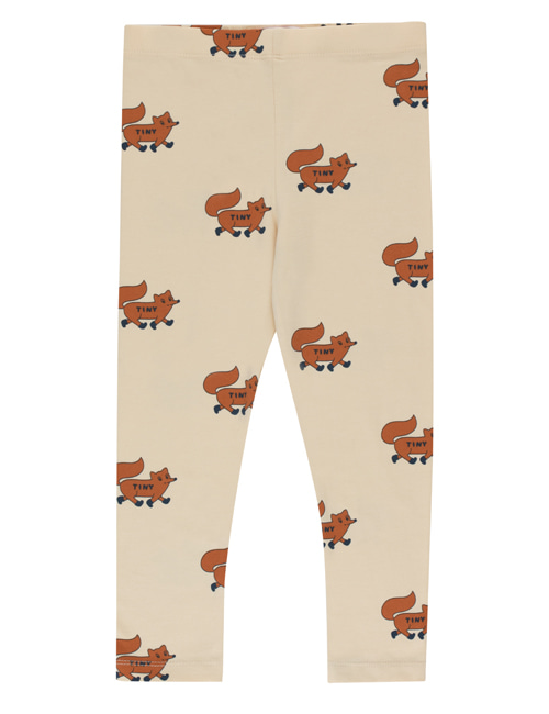 "[TINY COTTONS]  ""FOXES"" PANT _ cream/brown [2Y]"