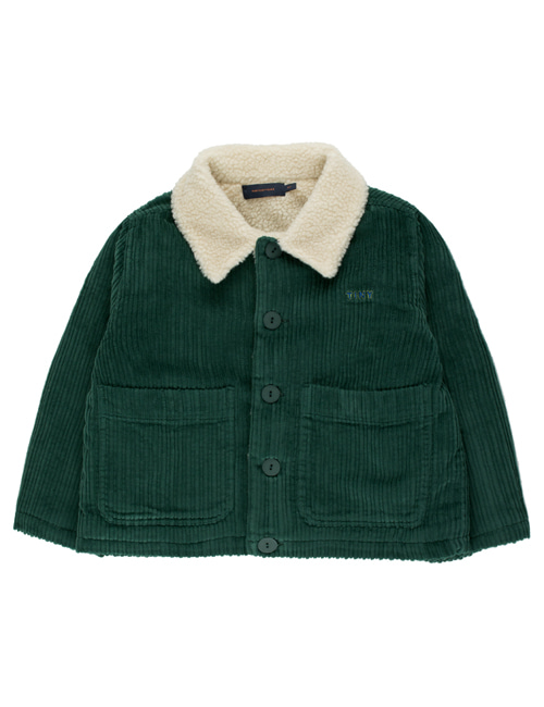 "[TINY COTTONS]  ""TINY"" SOLID JACKET _ dark green"