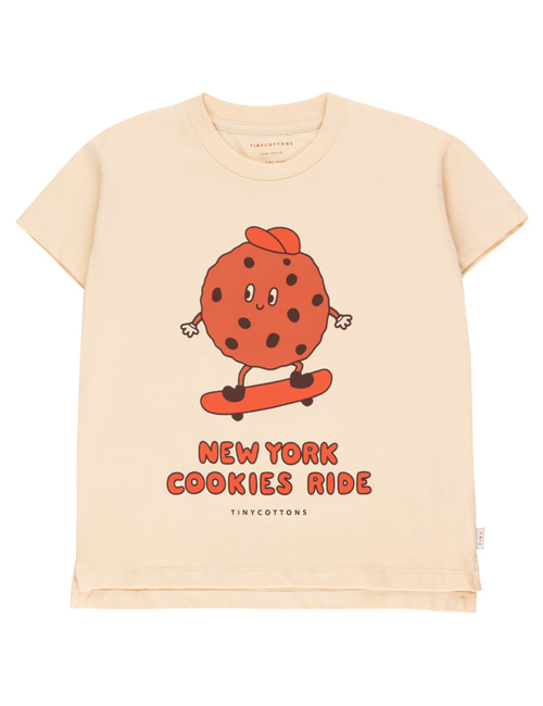 "[TINY COTTONS]  ""COOKIE RIDE"" TEE _ cream/brown[12Y]"