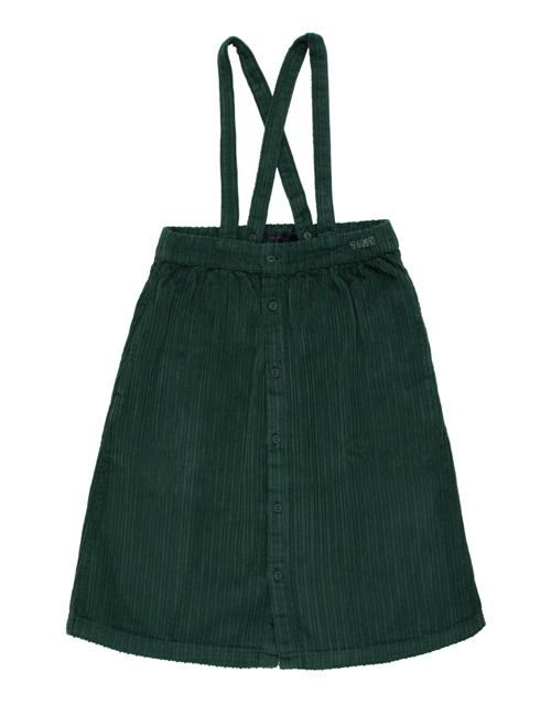 [TINY COTTONS]  SOLID BRACES MIDI SKIRT _ dark green [4Y]