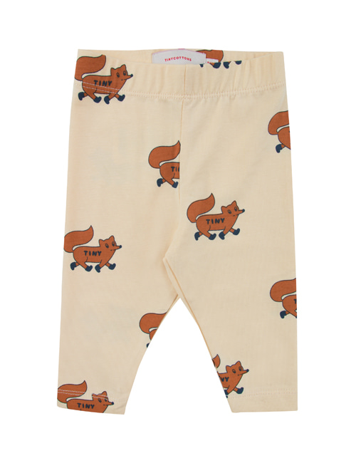 "[TINY COTTONS]  ""FOXES"" PANT _ cream/brown [12M]"