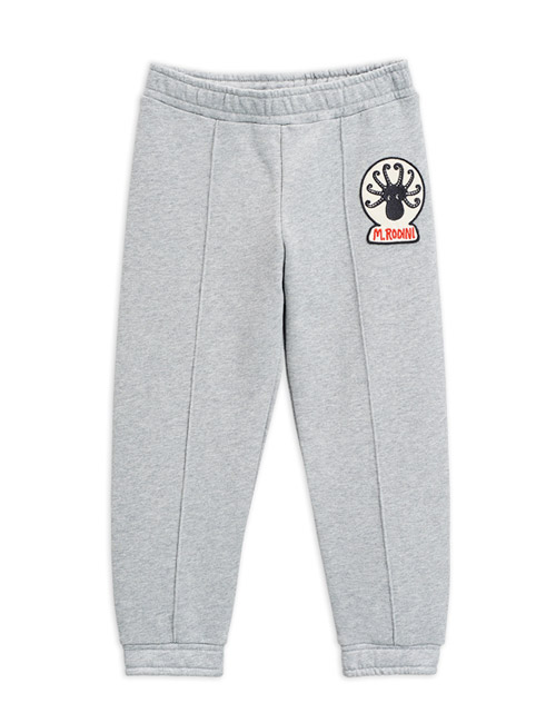 [MINIRODINI]Octopus patch sweatpants _ Grey[92/98, 128/134, 140/146]