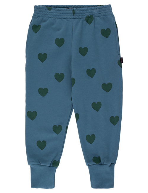 "[TINY COTTONS]  ""HEARTS"" SWEATPANT _ sea blue/dark green [8Y, 12Y]"