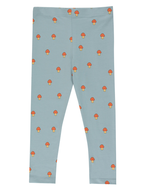"[TINY COTTONS]  ""MUSHROOMS"" PANT _ warm grey/red"
