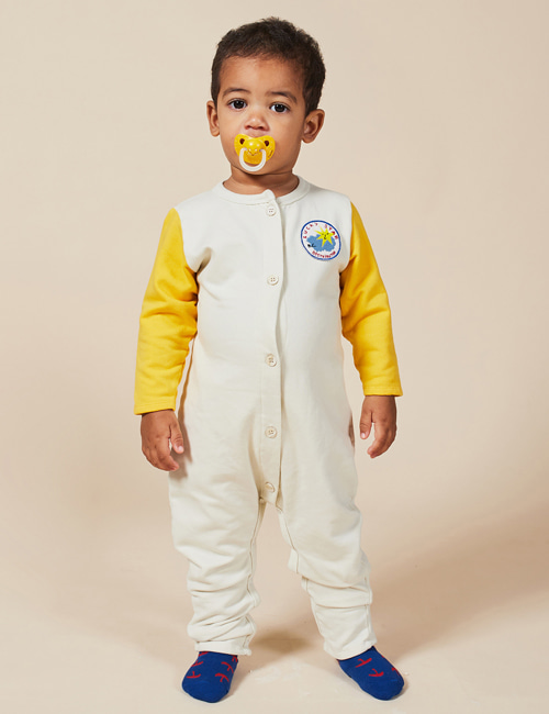 [BOBO CHOSES] Lucky Star Patch Fleece Overall[12-18m]