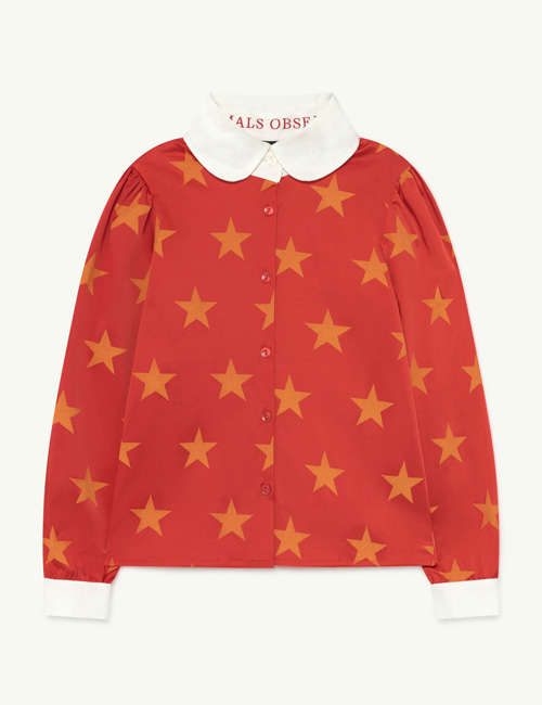 [T.A.O] CANARY KIDS SHIRT RED STARS [3Y, 4Y, 6Y, 8Y]